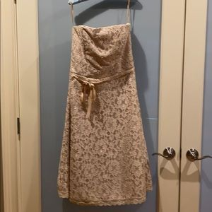 Strapless lace cover dress